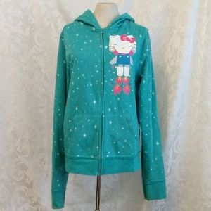 Sanrio Turquoise Hello Kitty Zip-up Hoodie